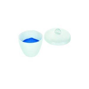 Crisol de porcelana con tapa Eisco